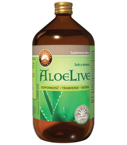 AloeLive Sok z Aloesu 1L Król Aloesów - Apteka Medyczna Zielarnia Podlaska