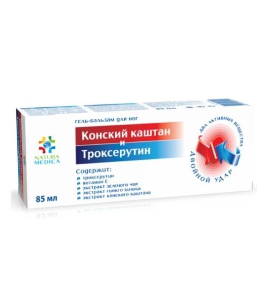 4607010245511 Żel kosmetyczny na żylaki Kasztanowiec Trokserutyna 85ml - Sklep Naturalne Kosmetyki
