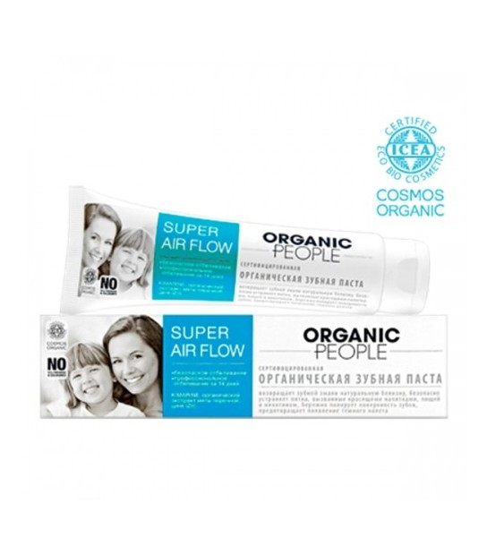 Organic People - organiczna odświeżająca pasta do zębów – bezpieczne wybielenie w 14 dni