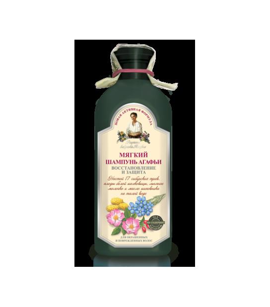 Miękki szampon ziołowy do włosów farbowanych Agafia