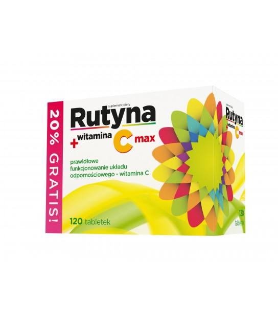 Rutyna + witamina c max 120 tabl. Nord Farm - Apteka Internetowa - Zielarnia