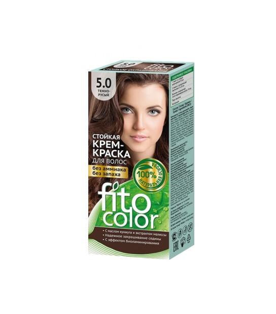 Farba do włosów 5,0 CIEMNY BRĄZ