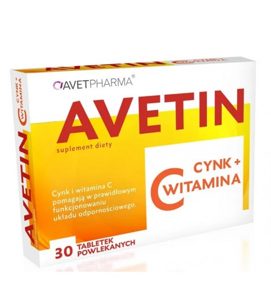 Avetin Cynk+Witamina C 30 tabl