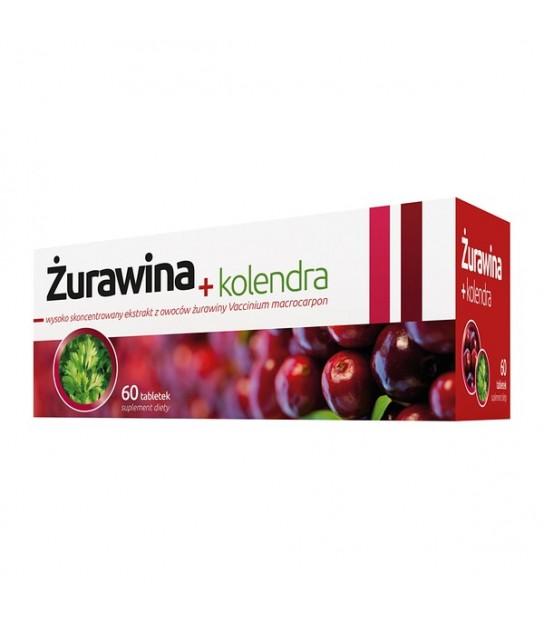 Żurawina + kolendra 60tabl. Suplement diety