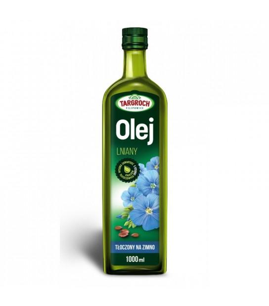 Olej lniany Tłoczony na zimno Nierafinowany 1l