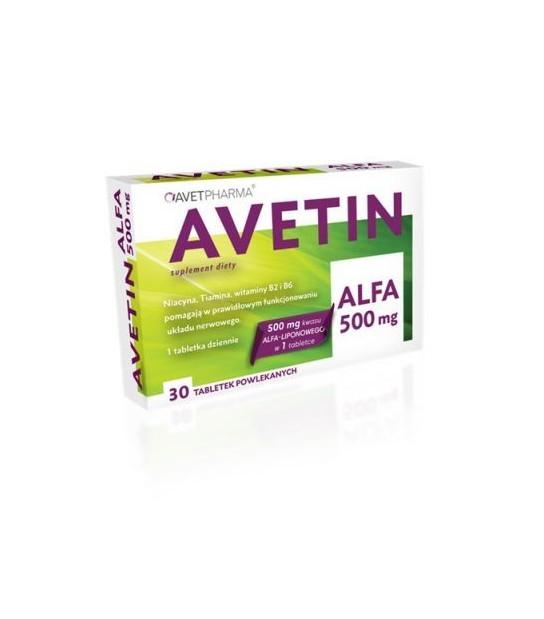 AVETIN ALFA 500 mg 30 tabl