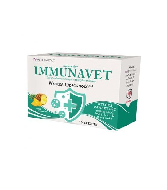 IMMUNAVET odporność 10 sasz. Suplemet diety