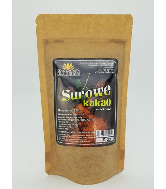 Surowe kakao mielone 200g