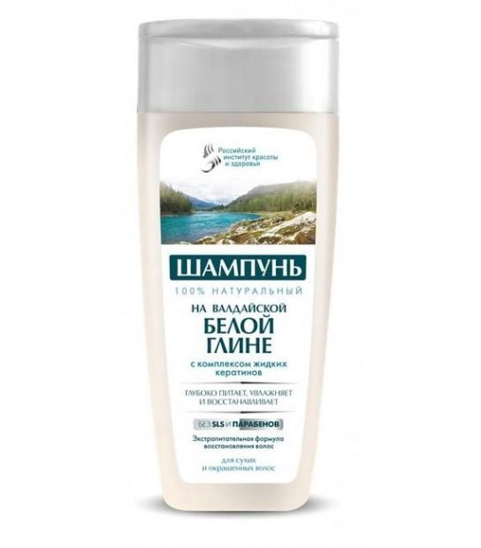 Szampon do włosów z wałdajską białą glinką i kompleskem płynnej kreatyny- 270 ml