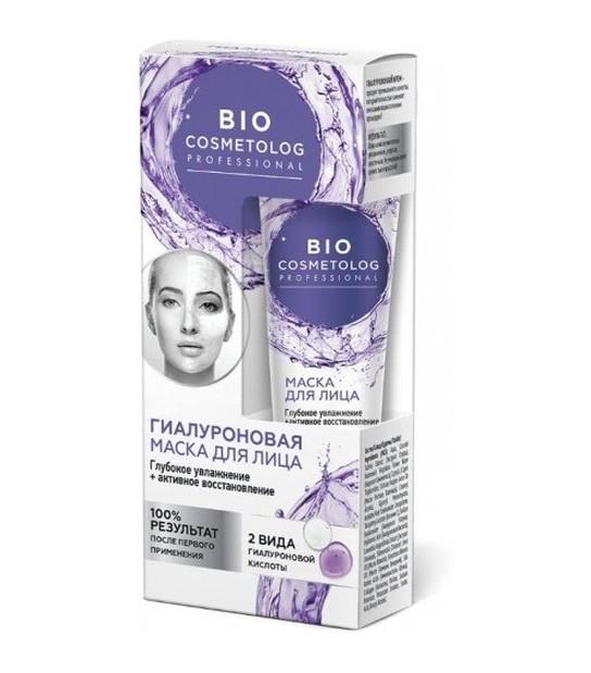 Bio Cosmetolog, Maska do twarzy z kwasem hialuronowym (45 ml)