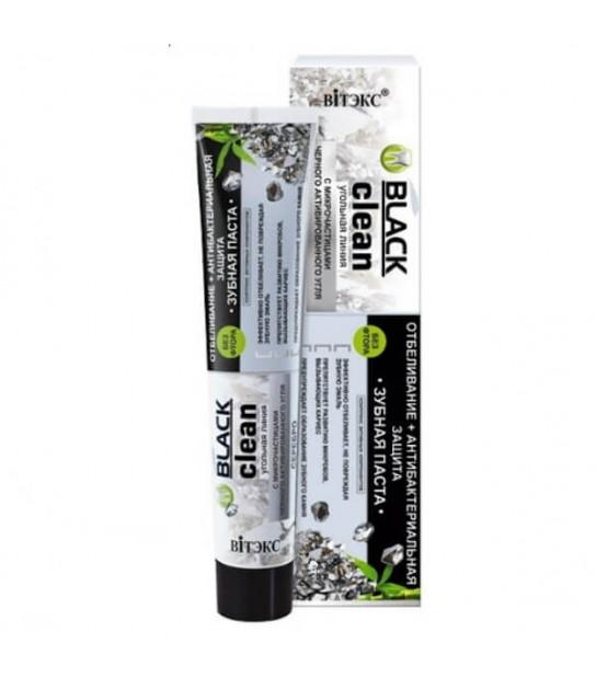 Black Clean, Pasta do zębów z czarnym weglem aktywnym i srebro (85 g)