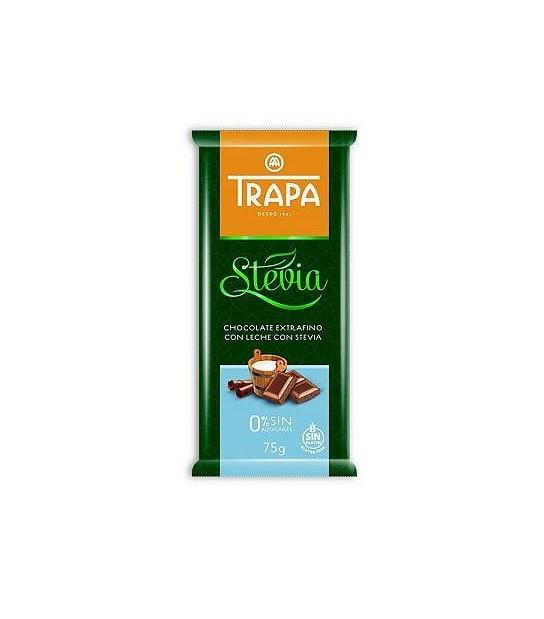 Czekolada mleczna ze stewią bez dodatku cukru Trapa (75 g)