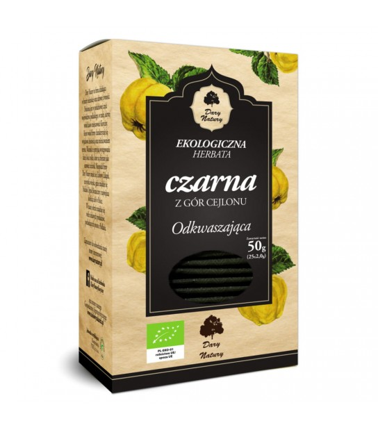 Herbata Czarna Odkwaszająca Eko (25x2g)