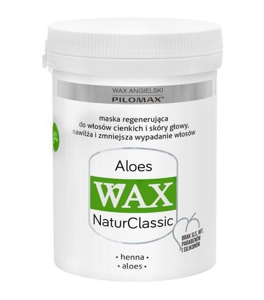 Wax Maska regenerująca ALOES do włosów cienkich WAX NaturClassic (240 ml)
