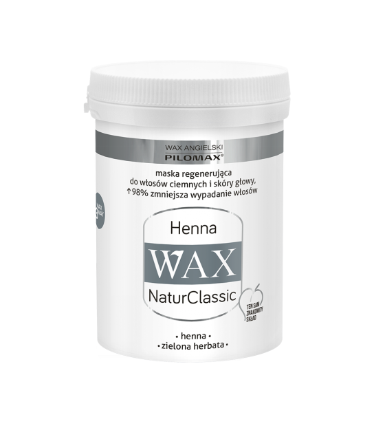 Wax Maska regenerująca HENNA do włosów ciemnych WAX NaturClassic (240 ml)