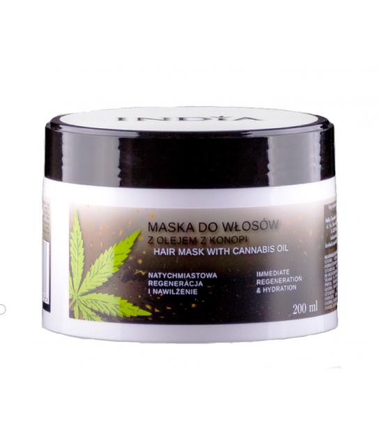 Maska do włosów z olejem z konopi 200 ml India